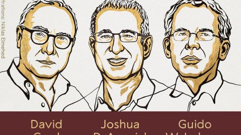 Os economistas David Card, Joshua D Angrist e Guido W. Imbens receberam o Prêmio Nobel de Economia de 2021.