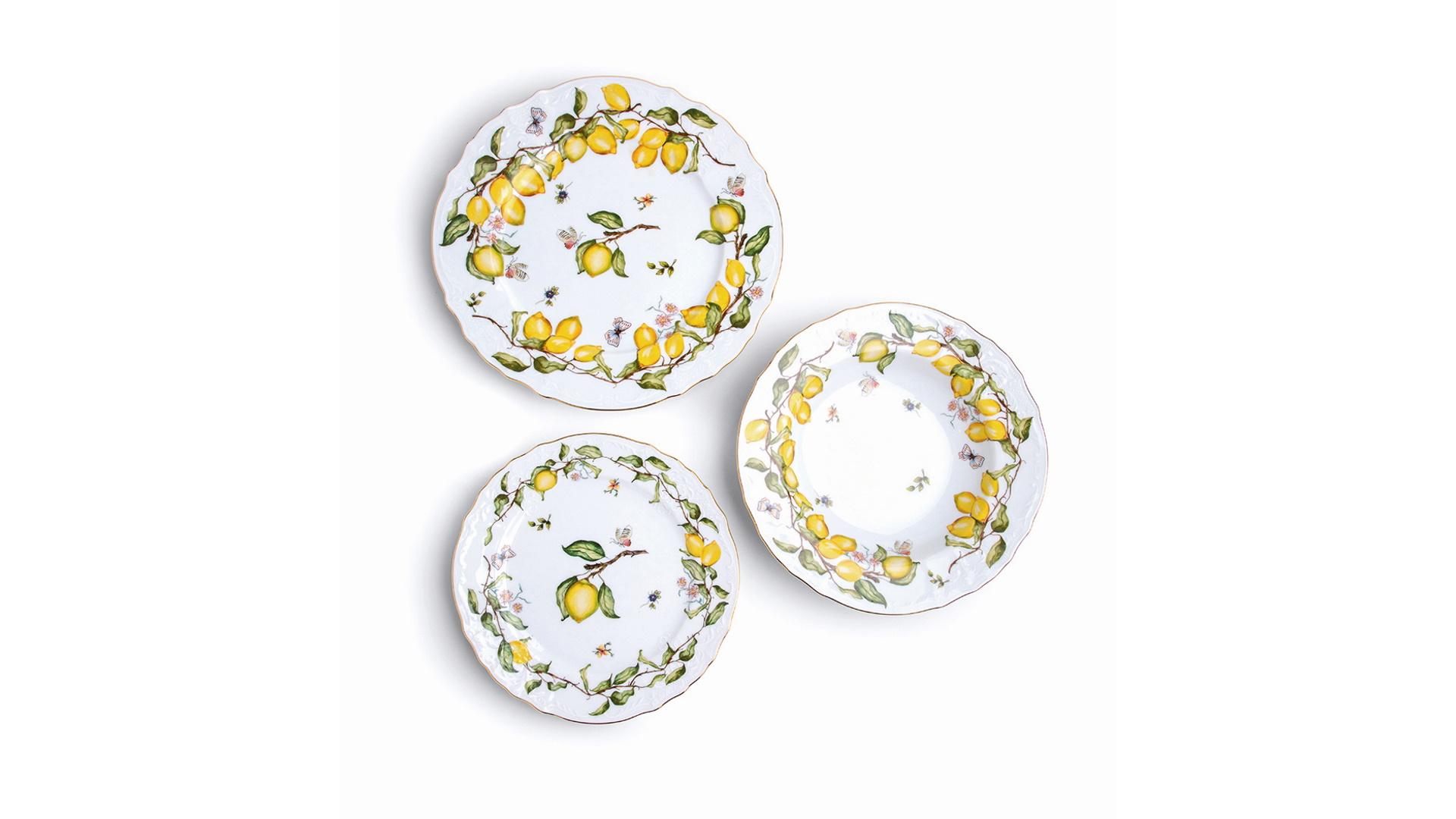 Aparelho de jantar de porcelana limoeiro Tania Bulhões