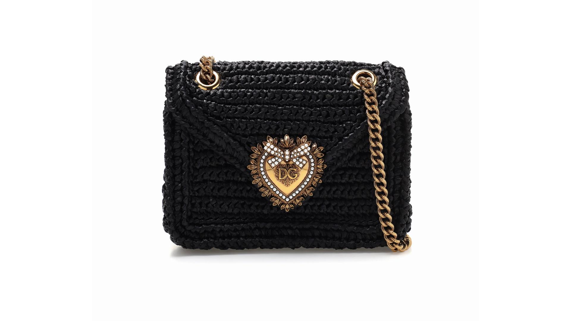 Bolsa trançada Devotion Dolce&Gabbana