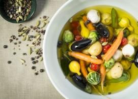 Confit de legumes e especiarias