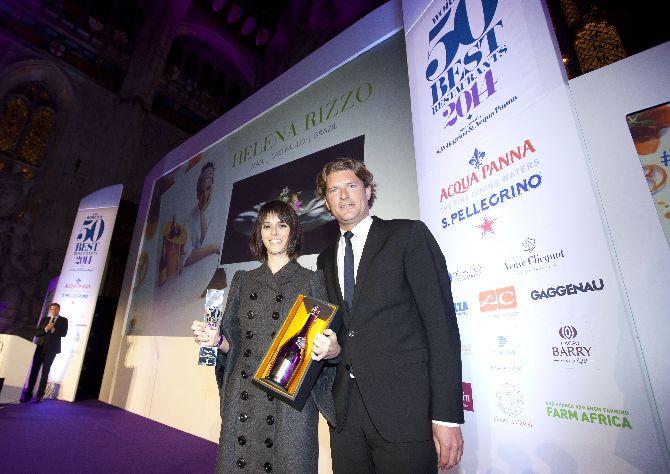 Helena Rizzo recebe o título de Melhor Chef Mulher do Mundo. Foto: 50 Best Restaurants/Divulgação