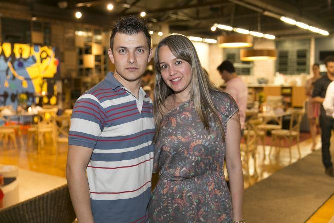 André Kosiba e Magda Medes Honorato da Codiflex. Foto: Fabiane Sznicer/Divulgação
