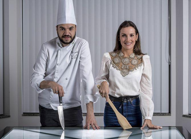 Ilicilho Neto e Cris Comelli, do Chame o Chef. Foto: divulgação