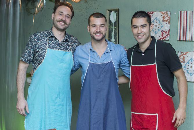 Da esquerda para direita, Marco Knabben, Rodrigo Vodola e s Rafael Marques. sócios da plataforma Chef23. Foto:divulgação.