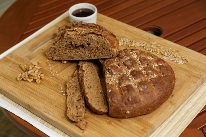 Pão de nozes com malte de cevada cristal caramelizado