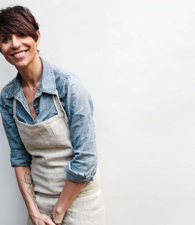A chef francêsa Dominique Crenn, 51, foi eleita melhor chef do mundo em 2016 pela The 50th Best Restaurants. Foto: Divulgação.