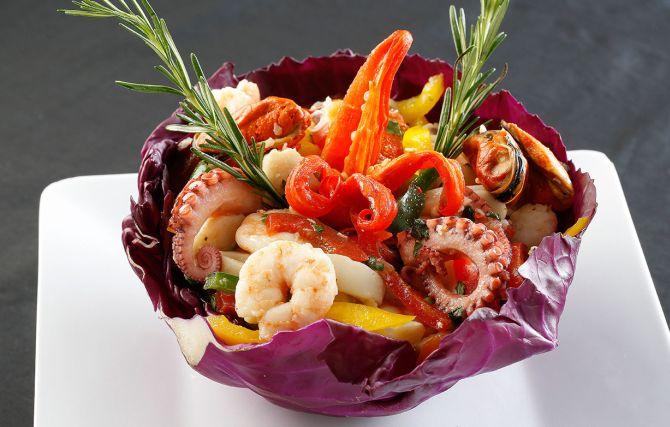 Salada de frutos do mar do Bar do David. Foto: Divulgação.