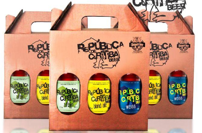 A cerveja República de Curitiba está disponível nas versões blond ale, american ale e weiss. Foto: Divulgação