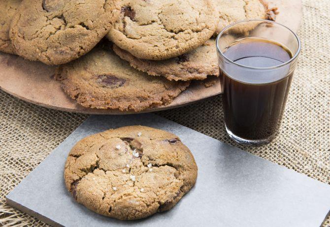Cookie de gotas de chocolate e café na padaria Maçã. Foto: Letícia Akemi/Gazeta do Povo