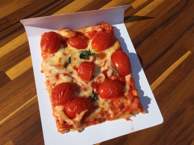 Pizza Marguerita do Balbi Pizza al Taglio. Foto: Marina Fabri.