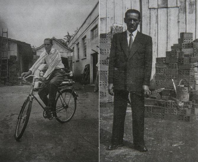 Na foto da direita, Nelson Kaminski e na da esquerda, seu pai, Alexandre Kaminski, o primeiro padeiro da família. (Fotos: acervo familiar)