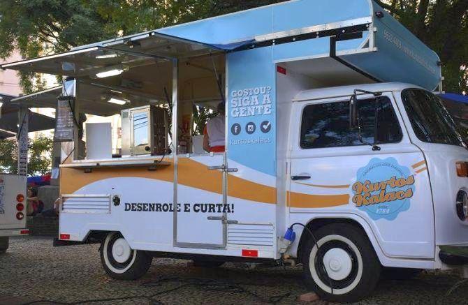 O food truck Kurto Kalacs trouxe ao Brasil um típico doce húngaro. Foto: Divulgação.