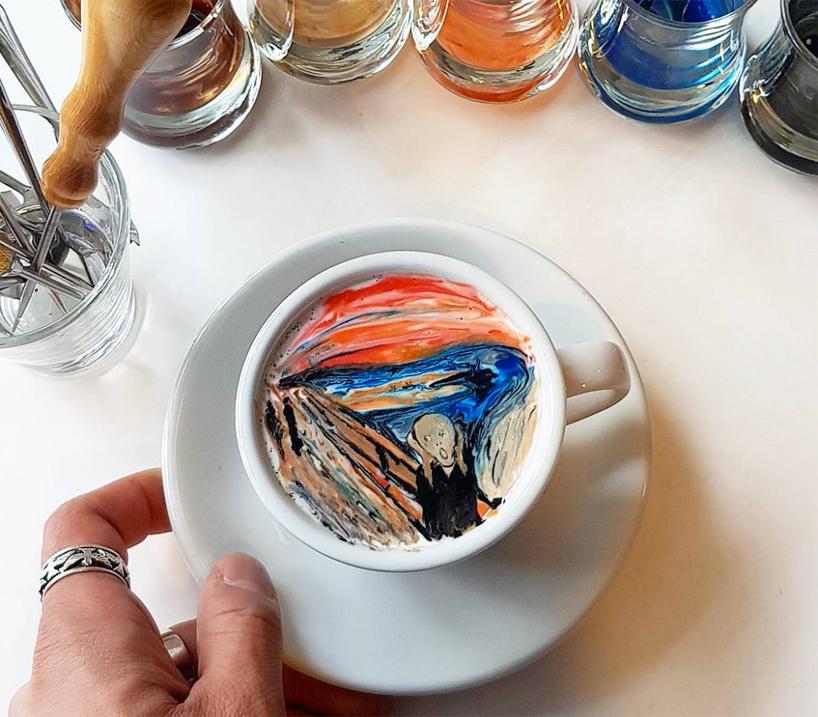 Barista recria obras de arte famosas em café