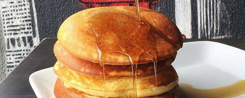 American pancakes com cobertura de maple syrup do NYC. Foto: Divulgação