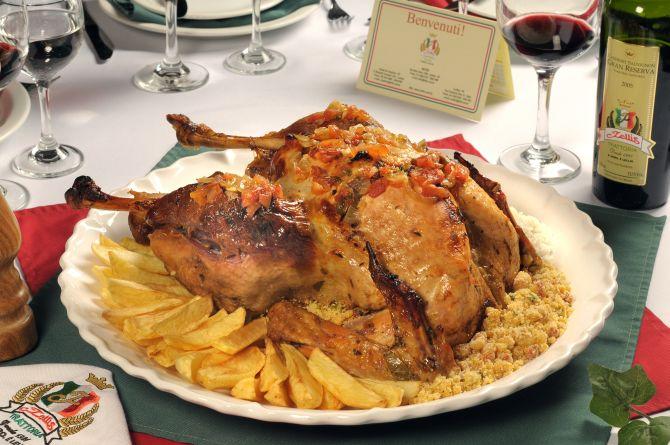 A sugestão do Lellis Trattoria para o Natal é o peru à brasileira