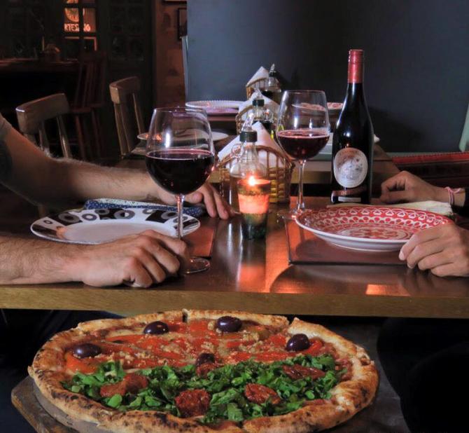 No Artesano, todos os sabores de pizzas vegetarianas podem ser elaboradas com mandioqueijo.