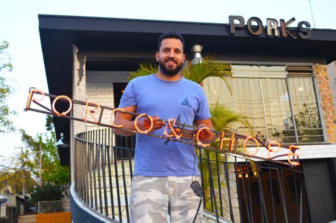 José Araújo Neto é sócio-proprietário do Porks. Foto: Divulgação.