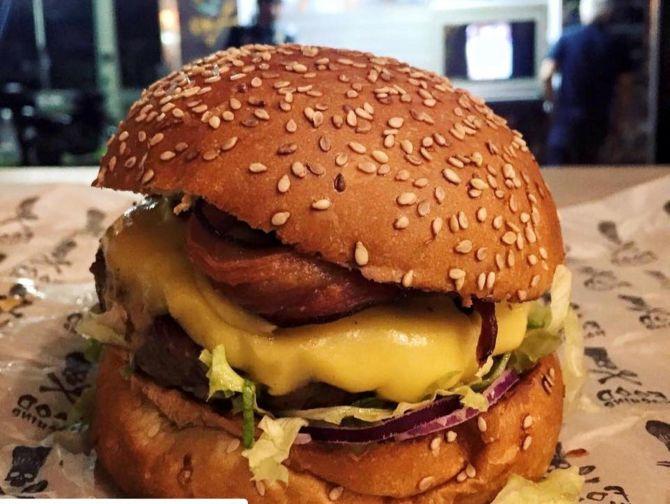 Hambúrguer da Food Machine. Foto: Divulgação