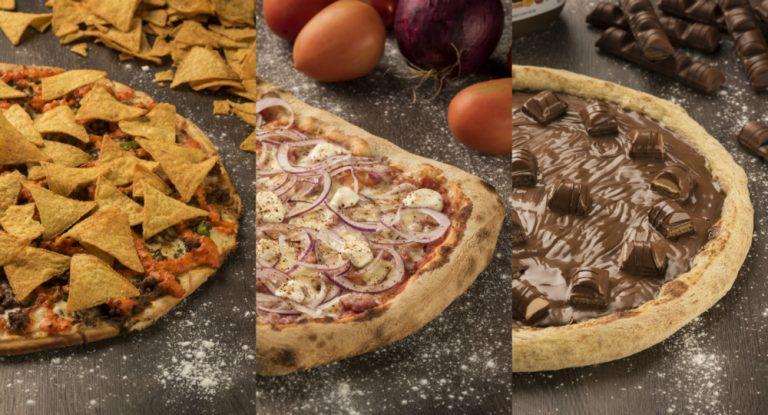 Mais de 50 sabores entre pizzas doces e salgadas.
