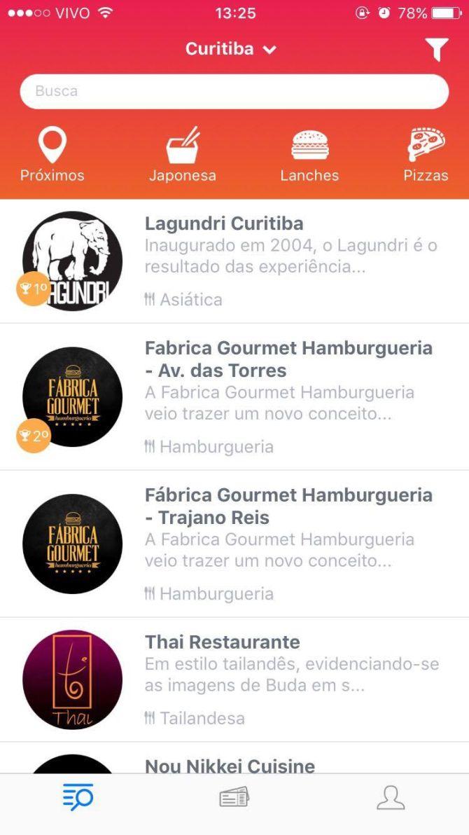 Novo app dá 50% de desconto em horários de pouco movimento em restaurantes