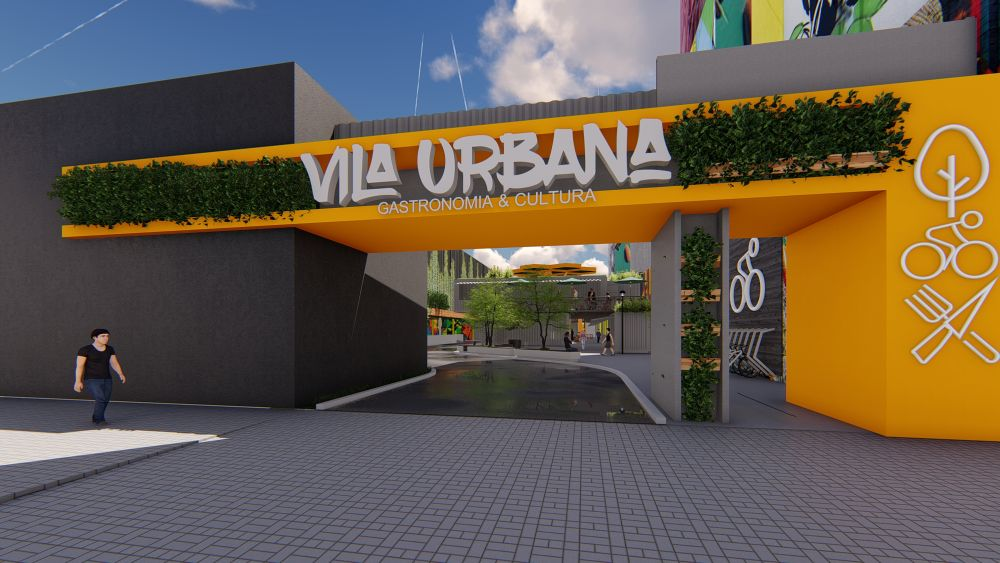 Entrada da Vila Urbana pela Rua Marechal Deodoro. Nova vila gastronômica é vizinha ao Centro Comercial Itália. Foto: Divulgação