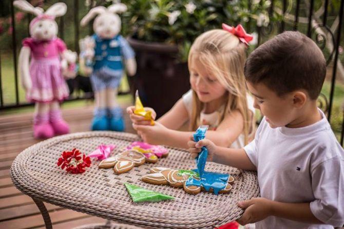 A Fluss Haus oferece o kit de bolachinhas para as crianças personalizarem. Foto: Divulgação