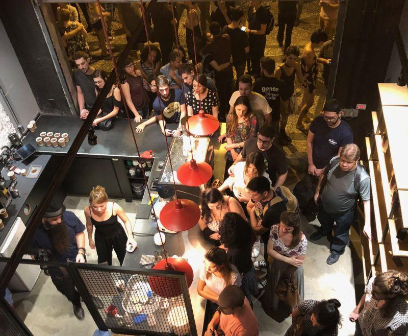 Evento no Supernova Coffee Hub no último sábado lotou a casa. Foto: Divulgação.