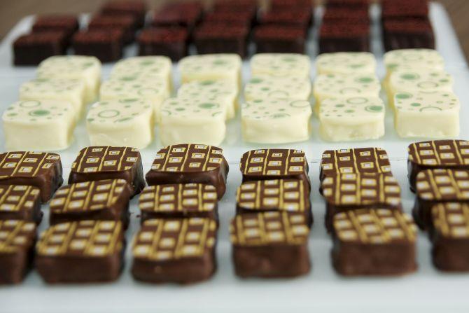Palets, os bombons recheados de ganache da Cuore di Cacao. Foto: Marcelo Andrade/Arquivo Gazeta do Povo