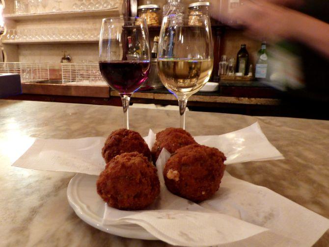 As famosas polpette de carne do bar . Foto: Gillo Brunisso