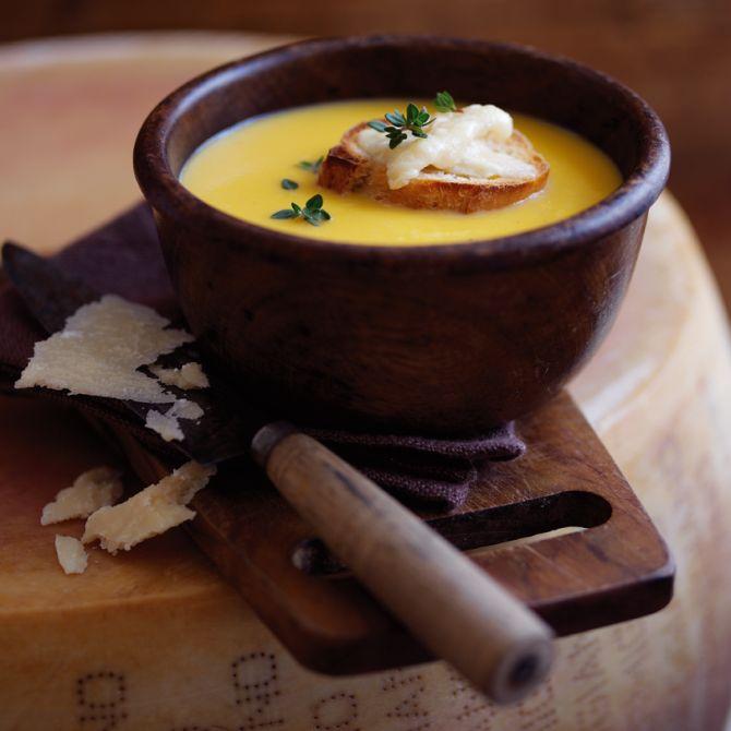 Sopa de abóbora com Parmigiano Reggiano