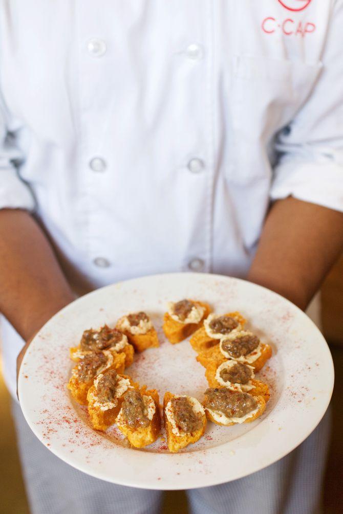 Prato do chef Greg Collier. Foto: Deb Lindsey/The Washington Post