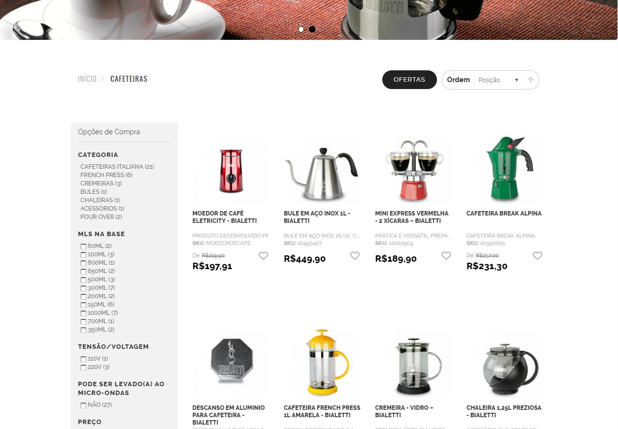 São 100 itens disponíveis na nova loja online. Foto: Reprodução