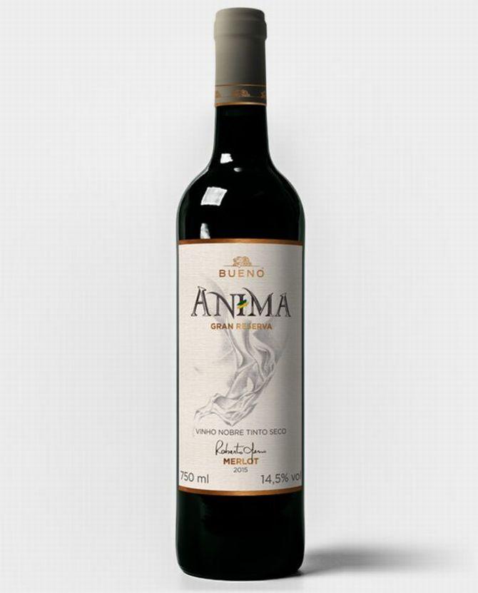 Espumante Anima, da vinícola do apresentador Galvão Bueno. Foto: Reprodução / Bueno Wines