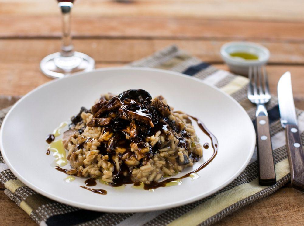 Um dos pratos do kit é o risoto de cogumelos. Foto: divulgação.
