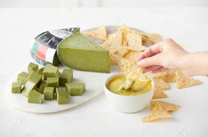 O queijo gouda feito com abacate é a mais nova criação da fábrica holandesa Daily Dairy. Foto: Reprodução Instagram / The Fresh Market