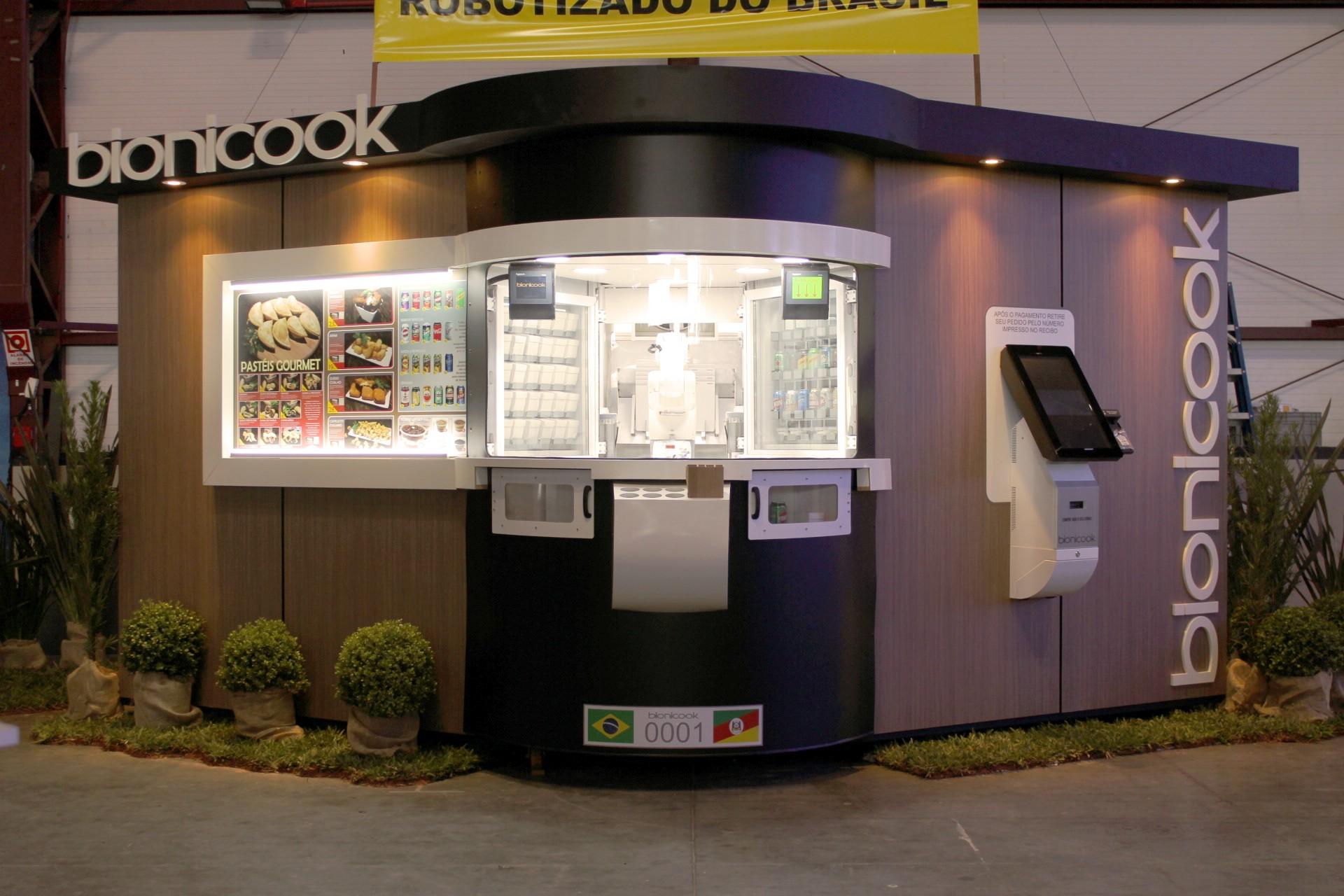 Bionicook é a 1º fast food totalmente automatizada e foi desenvolvida para ser de simples manuseio. Foto: divulgação.