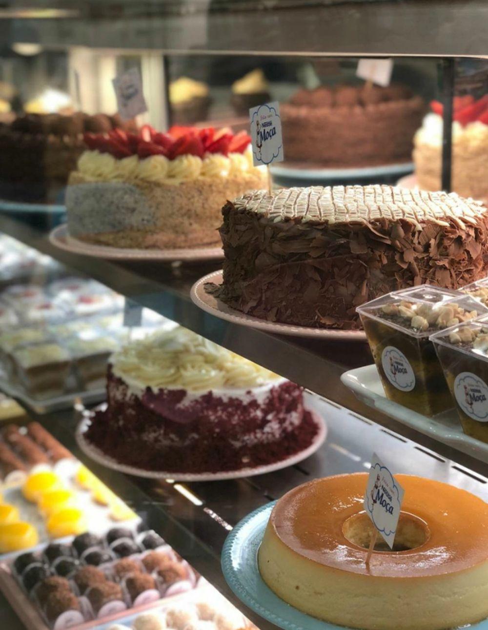 Quiosque Leite Moça tem bolos e doces à base de leite condensado. Foto: divulgação.