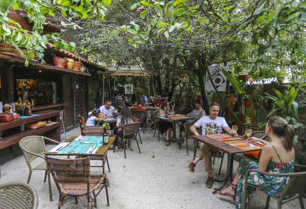 Jardim do Quintana, da chef Gabriela Carvalho. Foto: Daniel Castellano.