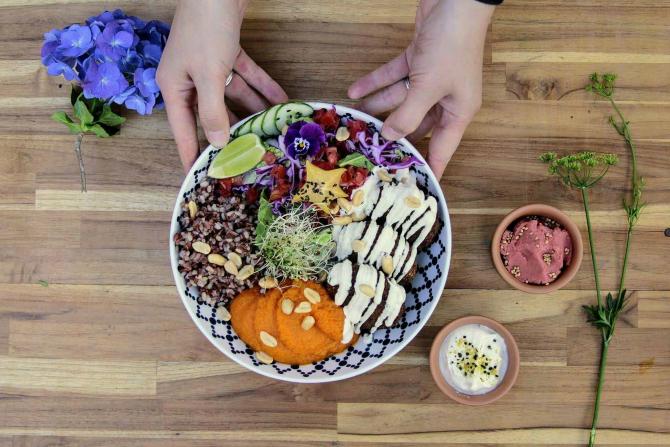 Buda Bowl do Greengo Vegetariano. Foto: Divulgação.
