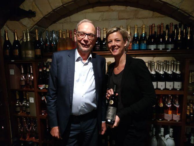 Vladimir e Tatjana Puklavec. Pai e filha trabalham juntos para mostrar ao mundo o melhor dos vinhos eslovenos. Foto: Marina Mori / Gazeta do Povo