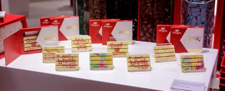 Chocolate com impressão personalizada. Foto: Thiago Duran/divulgação.