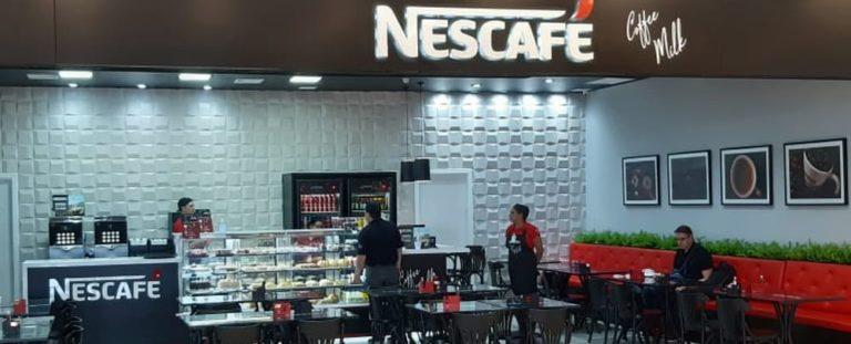 Cafeteria Nescafé no aeroporto de Florianópolis. Foto: divulgação.