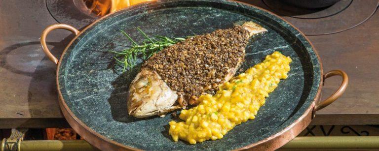 A chef Eva dos Santos ensina passo a passo como preparar um peixe grelahdo na brasa.