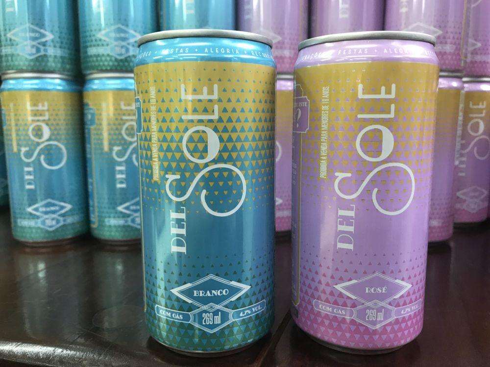 O Del Sole é uma linha de filtrados elaborados com vinho e suco de uva. Foto: divulgação.