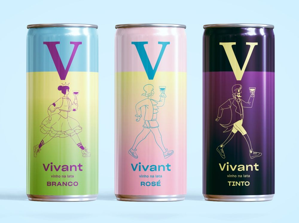 Os vinhos em lata da Vivant são produzidos e envasados em Caxias do Sul (RS). Foto: divulgação.