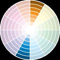 """Complementares: Nesta lógica de combinação, cada cor tem seu """"par"""". Prestando atenção ao círculo de cores, dá para observar que os opostos combinam, como é o caso do laranja com azul, amarelo e violeta, verde bandeira e roxo (como na foto do projeto da arquiteta Letícia Kunow). Segundo Henning, a combinação das complementares pode ser feita por meio dos tons """"puros"""", ou de suas modulações – quando há mudança na graduação de luminosidade e saturação."""