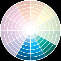 Análogas: São combinações de tons próximos no círculo das cores. Eles se harmonizam quase que da mesma forma como na lógica monocromática. O uso de cores análogas deixa o espaço mais tranquilo (como se vê na foto). É possível brincar clareando ou escurecendo o ambiente, se quiser criar dramaticidade. Tome cuidado com o preto, que, em excesso, pode deixar o espaço cansativo.