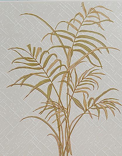 Desenho de capim limão, planta aromática muito desenhada na azulejaria de banheiro.