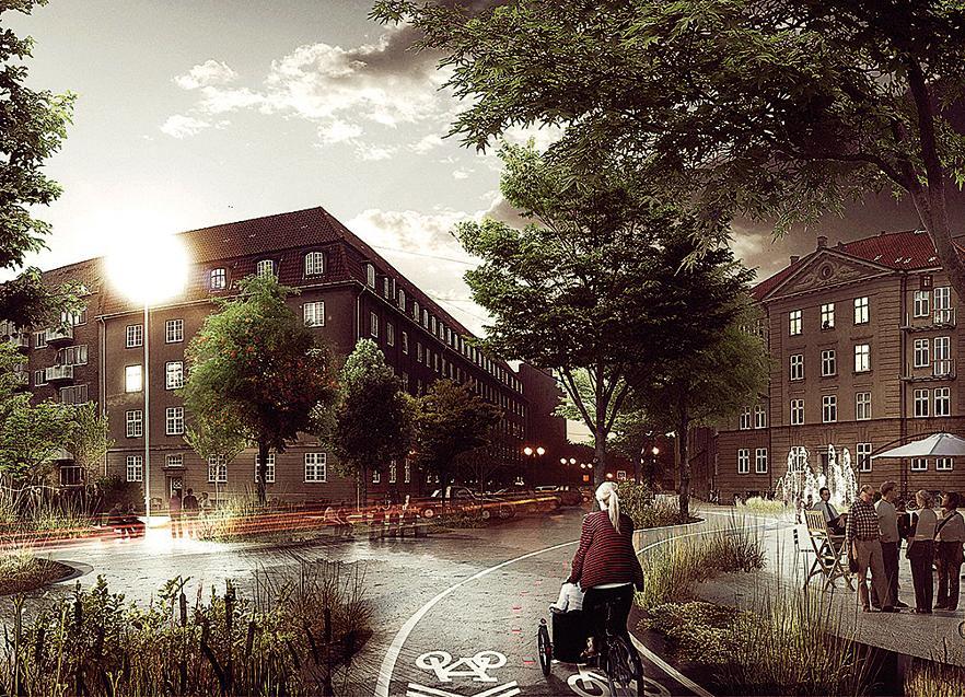 Projeto do escritório Tredje Natur promoverá uma reestruturação urbanística em Copenhague.