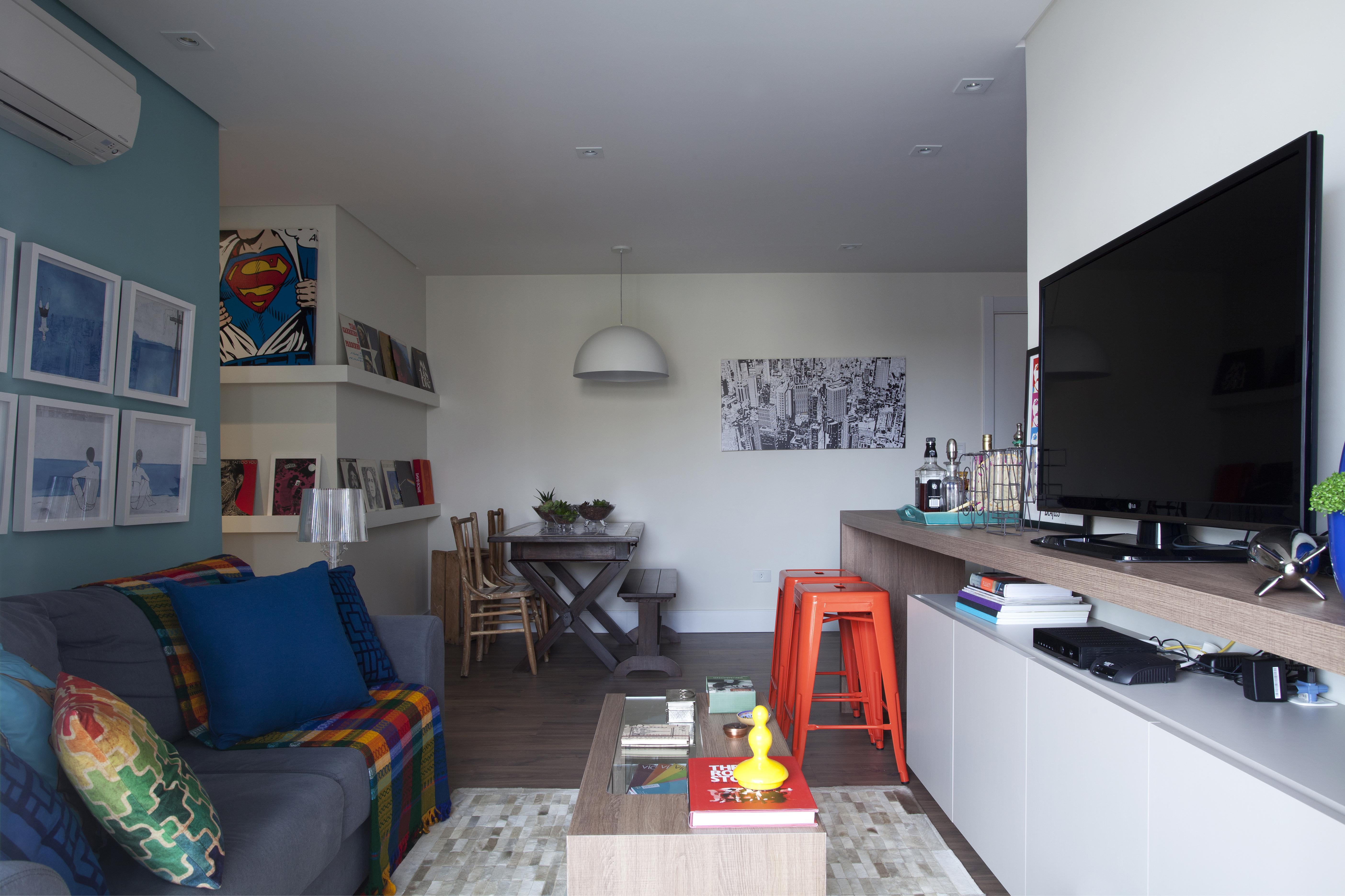 Inspire-se na decoração do apartamento moderninho e colorido